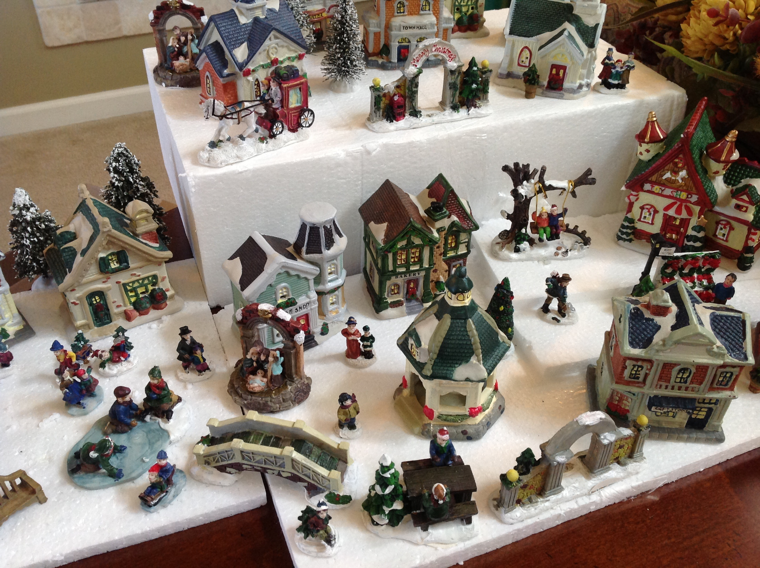image dollar tree christmas village cobblestone corners